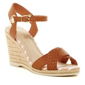 SPERRY Saylor Woven Espadrille Wedge Sandal 6M